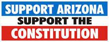 SUPPORT ARIZONA ANTI ILLEGALS  BUMPER STICKER #4032