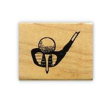 GOLF CLUB & BALL mounted rubber stamp #14