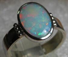 Multicolor Opal 2.4 Karat 925er Silberring Größe 18,8 mm