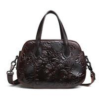 Genuine Leather Print Vintage Women's Handbag Shoulder Bag Satchel Purse Hi-Q