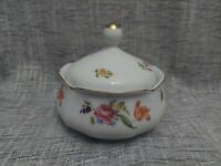 "Vtg JLMenau Graf Von Henneberg Porcelain Floral 5 1/2"" Covered Dish Germany"