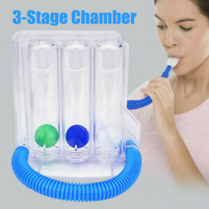 3Ball Breathing Trainer Device Exerciser Respiration Lung Vital Capacity Measure