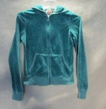 Z7967 Junior's Juicy Couture Green Full Zip Hooded Sweater-Medium