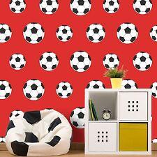GOAL! FOOTBALL WALLPAPER RED 9720 BELGRAVIA DECOR KIDS BOYS ROOM FREE P+P