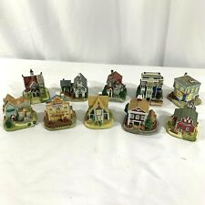 Vintage Lot Of 10 Liberty Falls Houses Christmas Village 1996, 1997, 1998