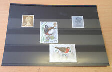 Stamp Stock Cards with foil cover - Black 3 Strip x 100