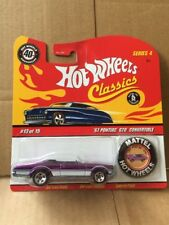 HOT WHEELS DIECAST - Classics With Button - '67 Pontiac GTO Convertible 13 Of 15