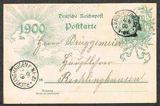 DR Ganzsache Reichspost 5 Pf Mi P43 II Bbd gest. Brochterbeck 6.6.1900