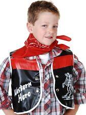 Western Hero Boys Cowboy Vest and Bandana Set Genuine Dr Toms -