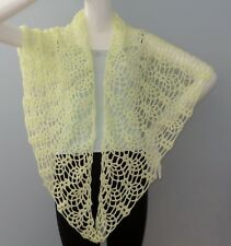 New Handmade Crochet Yellow Soft Acrylic Pineapple Shawl Wrap Scarf