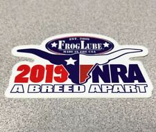 FROGLUBE 2019 NRA A BREED APART Authentic Sticker Firearms Hunting Gun USA BULL