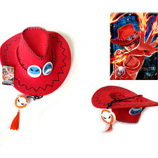 Anime One Piece Portgas·D· Ace Hat Fire Fist Cosplay Hats Cap Suede Costume Gift
