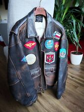 VINTAGE USA AVIREX G1 / A2 FLYING / FLIGHT LEATHER JACKET - UK L