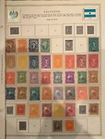 Salvador Stamps 1867-1921 on Minkus Album Partially Full