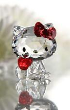 SWAROVSKI CRYSTAL HELLO KITTY WITH RED APPLE 1096878 MINT BOXED RETIRED