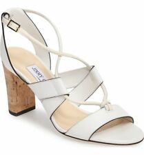 fcd8ea0c409d Jimmy Choo Margo Leather Crisscross 80mm Sandals Pump Heel Shoe 38.5