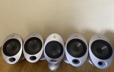 Kef HTS2001 SP3327 Egg Surround Satellite Speakers x5