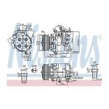 Fits Honda Accord MK9 2.0 Genuine OE Quality Nissens A/C Air Con Compressor