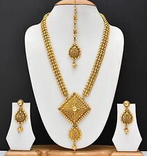 Indian Gold plated Jewelry Necklace Set Traditional Set South Long