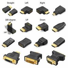Micro & Mini HDMI DVI-I DVI-D Male to VGA DP DVI Female Adapter Cable Connector