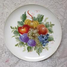 Vintage, X- Large, 20in D, White Toleware with Fruits and Vegetable Wall Decor