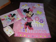 4pc minnie mouse toddler bed bedding set