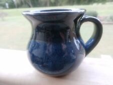BLOWING ROCK NC Cobalt Blue POTTERY HANDLE CREAMER-MINI PITCHER SIGNED ON BOTTOM