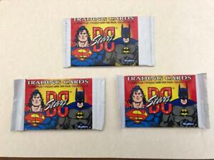 3 Packs DC STARS by Skybox Trading Cards 1994 Justice League Batman Superman