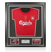 Steven Gerrard Front Signed Liverpool 2005 Home Shirt In Classic Frame: UEFA Cha