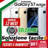 SMARTPHONE SAMSUNG GALAXY S7 EDGE 32GB SM-G935 G935F G935V_GAR.12MESI_ORIGINALE!