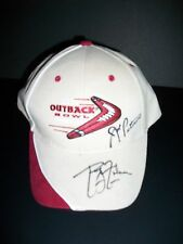 Joe Paterno & Phillip Fulmer signed 2007 Outback Bowl football cap Psa Letter