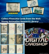 Topps Disney Collect Pinocchio Animation Research Library 80th Anniver 10 Cards