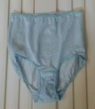 Blue Sheer Tricot Panties - Size 6 - 100% Nylon Body - Double Gusset