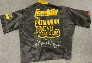 "Vinny ""Paz"" Pazienza Boxing Fight Worn Used Cornerman Jacket PAZ LOA"
