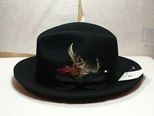 New with Tag Capas Untouchable Fedora Men's Brim 2 1/2'' Black-Grey-Burgundy-Bk