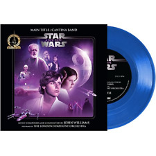 "Star Wars: A New Hope Soundtrack Mandalorian Exclusive Limited 7"" Blue Vinyl LP"
