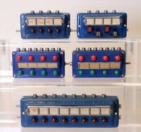 Lot of 5 Marklin Multi Scale Push Button & Switch Control Panels