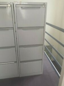 SteelCo Filing Cabinet 4 drawer with key