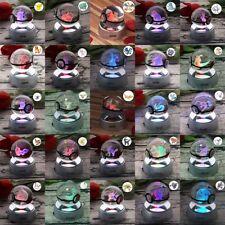 Pokemon Pokeball 3D LED Kristall Tischlampe Nachtlicht Schlafzimme Geschenk RGB