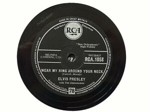 ELVIS PRESLEY - Wear My Ring Around Your Neck / Doncha' Think 78 rpm disc (A+)