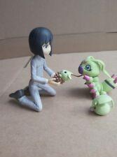 """BANDAI Digital Monster 4Pcs/set 4"""" ken ichijouji Wormmon Kids Action Figure Toys"""