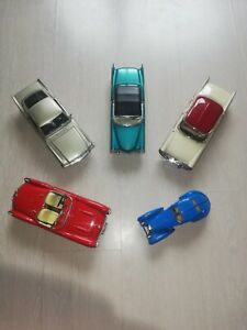 Lot 5 Voitures Miniature 1/18 1/24 Burago Solido - Ford Chevrolet Cadillac