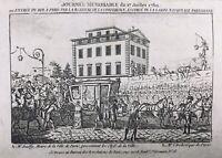 Louis 16 entre à Paris Juillet 1789 Rare Gravure époque Révolution Française