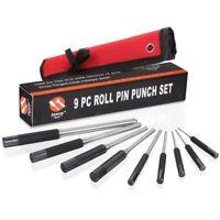 JawayTool 9 pieces Bolt Catch Roll Pin Punch Set Tool Kit