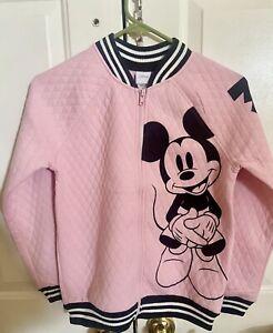Disney Mickey Mouse Jacket Size M For Kids Pink Jacket New Light Pink