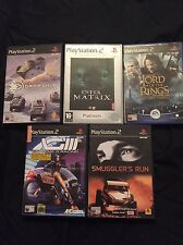Ps2 5 Games Bundle Fighting Games etc  Great value .enter the matrix g3