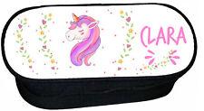 trousse à crayons école licorne unicorn personnalisée réf 271