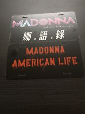 Madonna Taiwan Confessions Dancefloor & American Life Standee Licenseplate Cards