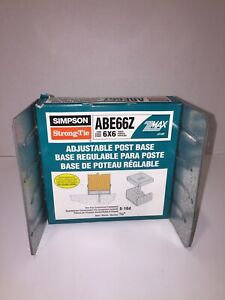 ABE66Z 6x6 Post Base Simpson Strong Tie Hot Dipped Galvanized