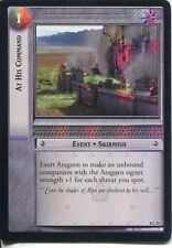 Lord Of The Rings CCG Foil Card SoG 8.C31 At His Command